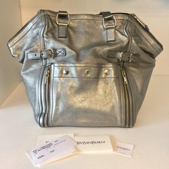1de56d30d9 Authentic Yves Saint Laurent Metallic Downtown Bag.  M_5be351f35c44529e0eb4d762